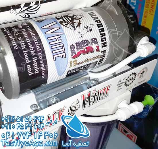 خرید پمپ شیر اهرمی بزرگ دستگاه تصفیه آب خانگی آب تصفیه کن آب شیرین کن خانگی 6 مرحله ای بلک اند وایت black and white