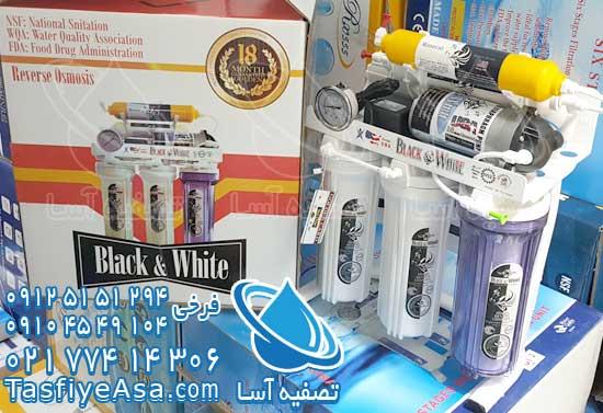 بهترین دستگاه تصفیه آب خانگی تایوانی اصل 6 مرحله ای اسمز معکوس آر او بلک اند وایت قیمت خرید آنلاین black and white
