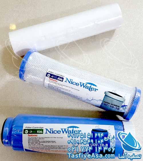 فیلتر پیش تصفیه آب شیرین کن آب تصفیه کن خانگی خونگی 1 2 3 نایس واتر Nice Water