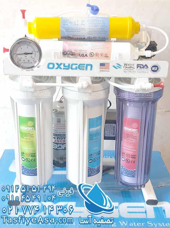 قیمت دستگاه تصفیه آب خانگی اکسیژن تایوان 6 مرحله ای 6 فیلتره