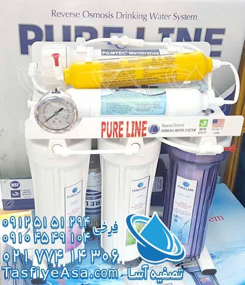 خرید بهترین دستگاه تصفیه آب خانگی آب آشامیدنی خانواده خونه پیور لاین اصلی تایوانی 6 مرحله ای pure line taiwan