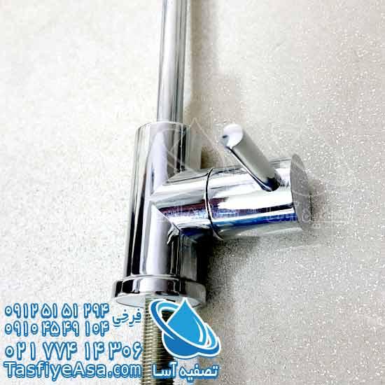 خرید شیر اهرمی سایز متوسط نیمه استیل کروم با کیفیت ضد زنگ دستگاه تصفیه آب خانگی