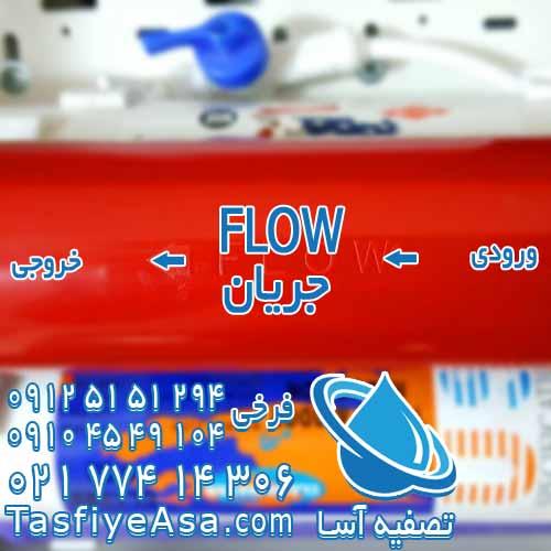 فلو flow ورودی خروجی فیلتر دستگاه تصفیه آب خانگی تایوانی به چه معناست معنی لغت