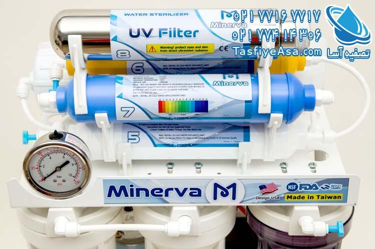 قیمت تصفیه آب 8 مرحله ای یو وی دار مینروا Minerva Ro8_UV