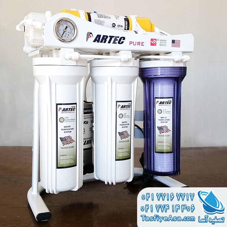 تعویض فیلتر آب تصفیه کن خانگی آرتک Artec