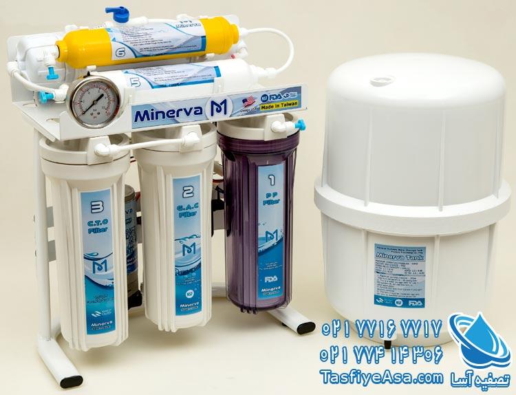 خرید دستگاه تصفیه آب خانگی 6 مرحله ای تایوانی مینروا Minerva
