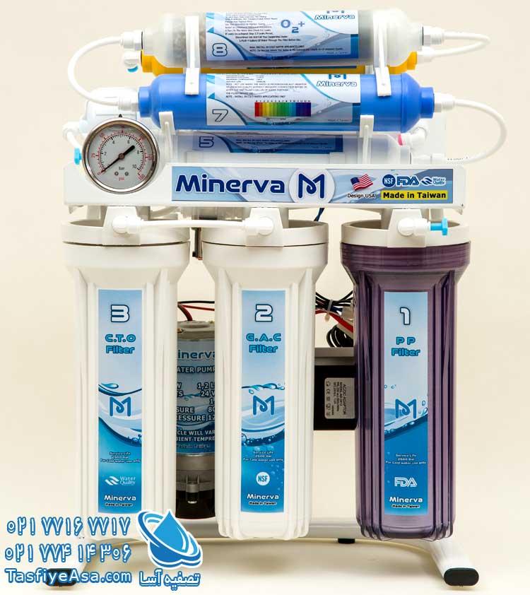دستگاه تصفیه آب خانگی مینروا 8 مرحله ای Minerva ro8 o2plus