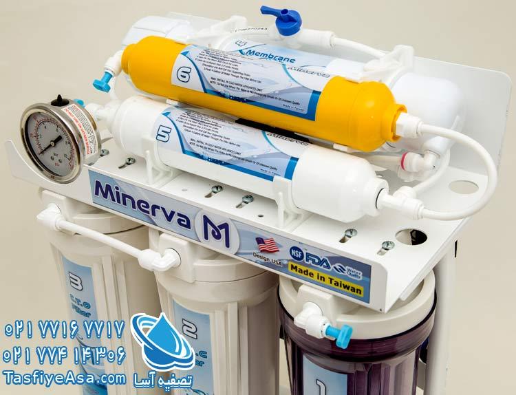 قیمت دستگاه تصفیه آب 6 مرحله ای مینروا Minerva Ro6_50G