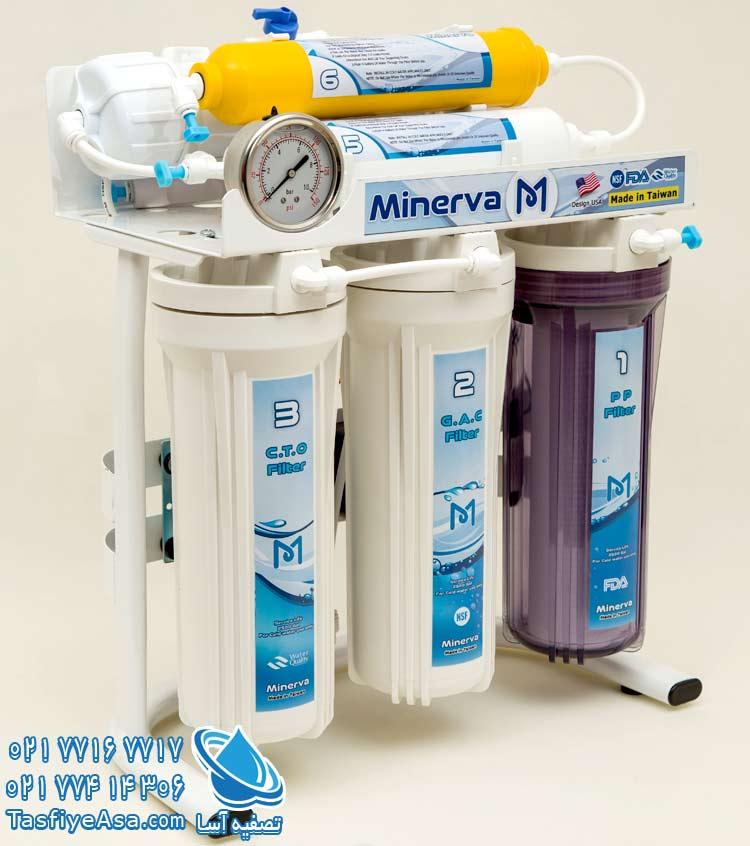 دستگاه تصفیه آب شش فیلتره تایوانی اصل مینروا Minerva