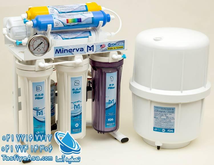 دستگاه تصفیه آب 7 مرحله ای قلیایی مینروا Minerva RO7_Alkaline