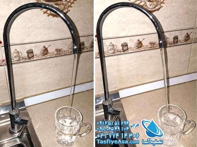 علت کم شدن فشار آب دستگاه تصفیه آب خانگی