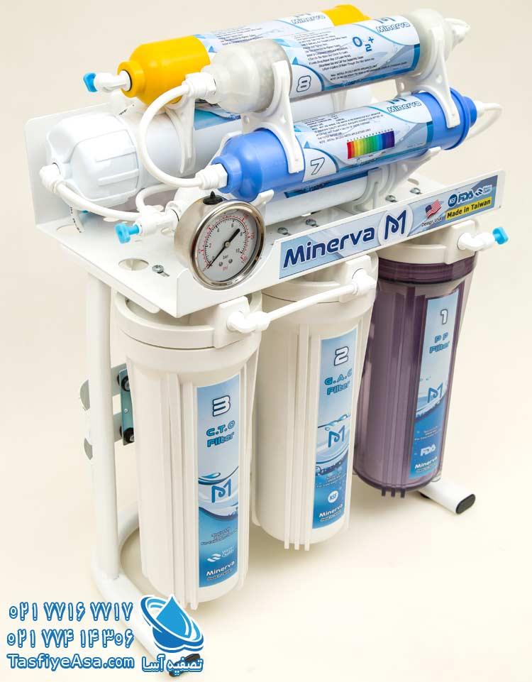 قیمت دستگاه تصفیه آب تایوانی اصل مینروا Minerva ro8 o2plus