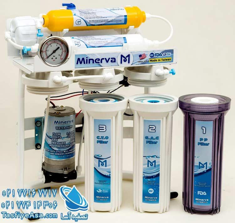 قیمت دستگاه تصفیه آب خانگی شش مرحله ای مینروا Minerva ro6_50g