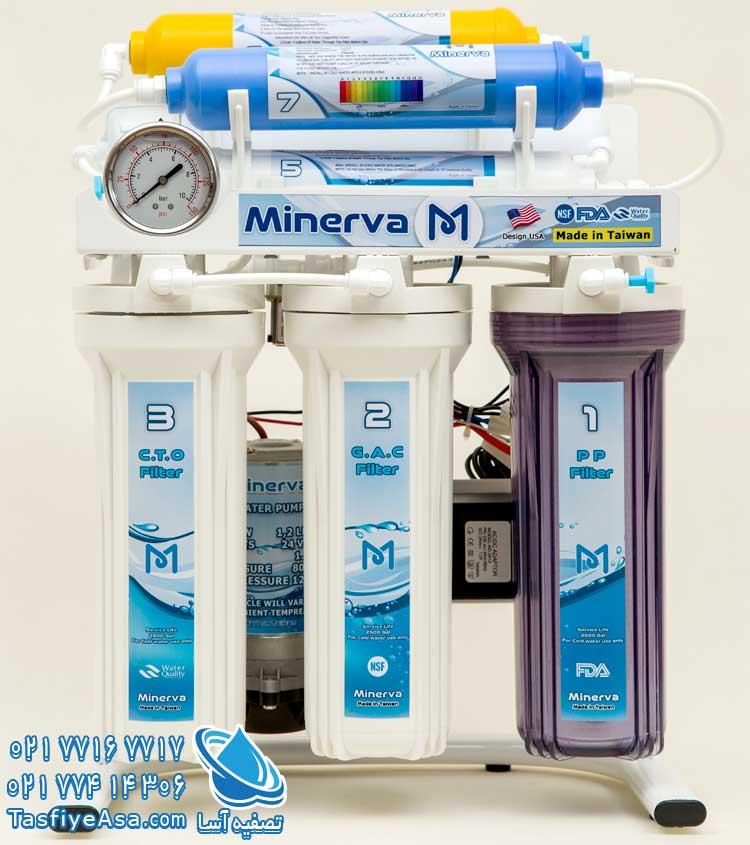 قیمت دستگاه تصفیه آب خانگی قلیایی مینروا تایوان Minerva ro7 alkaline
