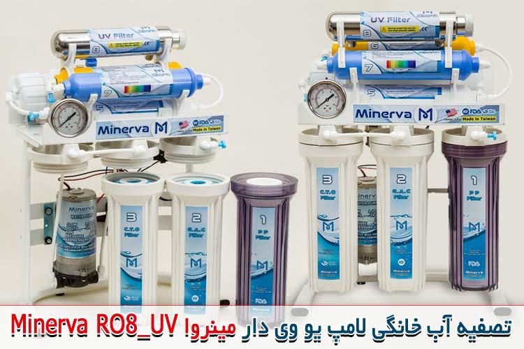 قیمت دستگاه تصفیه آب چاه خانگی مینروا مدل RO8_UV
