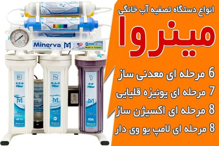 انواع دستگاه تصفیه آب خانگی